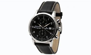 Reloj Kronos Pilot Automatic Chronograph Black