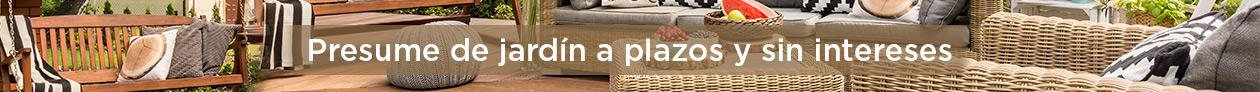Lo mejor para tu jardín y tu terraza, compra lo que necesites en disfruting con la opción de financiarlo sin intereses