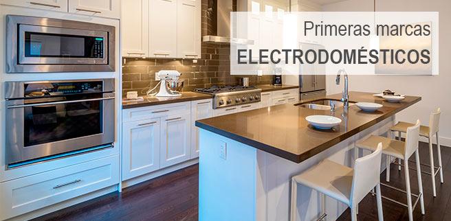 Primeras marcas en electrodomésticos y con posibilidad de pago a plazos.