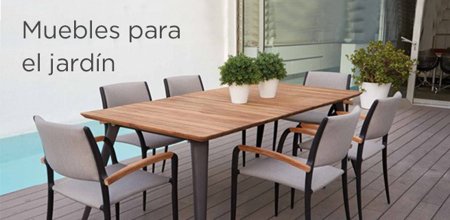 Mobiliario para tu jardín a plazos