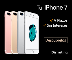 iPhone 7 a plazos y sin intereses