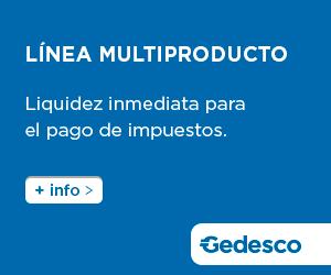 Línea multiproducto de Gedesco para el pago de impuestos